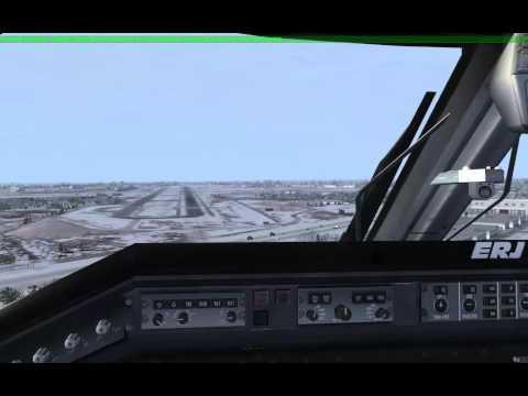 ERJ145 Landing KBUF