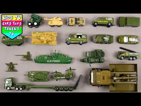 Learn Army Vehicles For Kids Children Babies Toddlers | Army Tank Army Jeep | Kids TV | Preschool