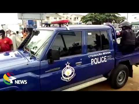 Breaking: Accra Girls' SHS: Police move in to restrain parents who stormed campus...