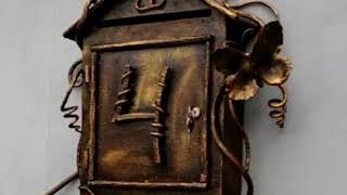 Гарний кований поштову скриньку з металу елементи кування дизайн зразок відео