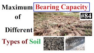 Maximum Bearing Capacity of Different types of soil with pictures in Urdu/Hindi