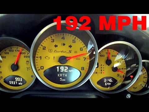 Porsche 997 Turbo S 0-192mph Mojave Mile Top Speed Shootout 911 MKII ...