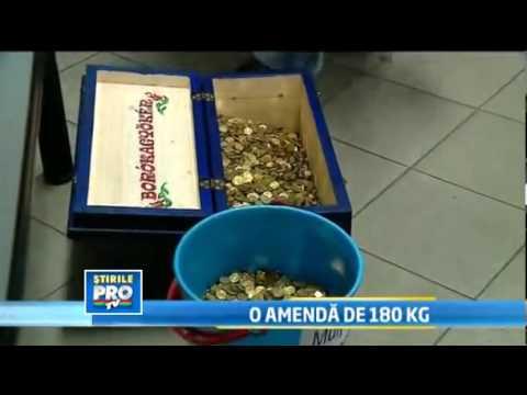 Amenda de 750 de lei platit in monede de 1 ban de o femeie din Targu Mures / Someseanul.ro