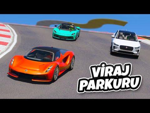 Pahalı Elektrikli Arabalar Yeni Viraj Parkuruna Gidiyorlar - GTA 5