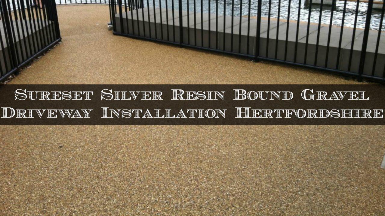 SureSet Silver Resin Bound Gravel Driveway Installation Hertfordshire