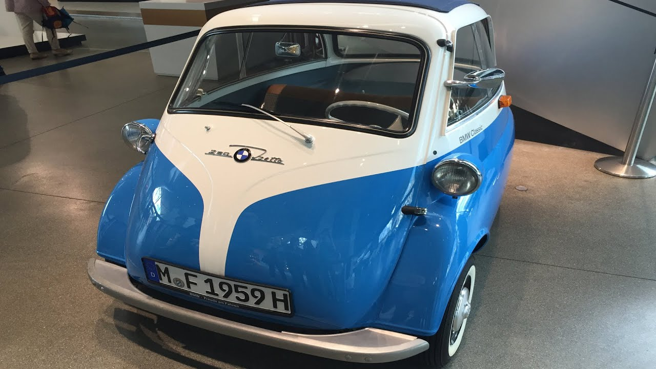 Tiny Smallest Bmw Car Ever Bmw Classic 250 Isetta Betta Front Entrance Youtube