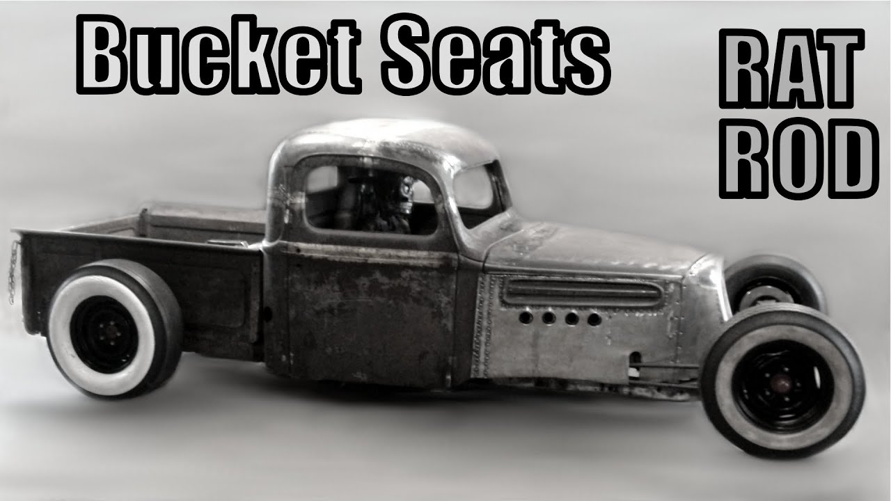 47 Ford Truck Rat Rod - New Bucket Seats ... well sorta