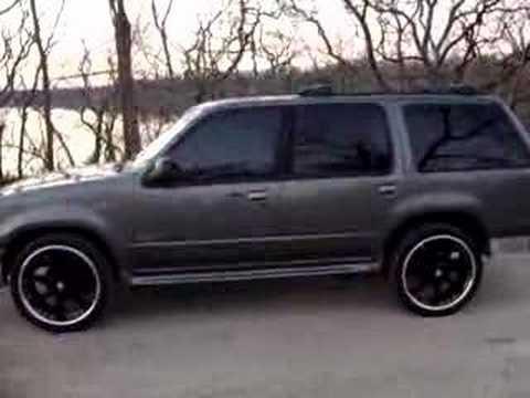 1999 ford explorer 22 inch black rims youtube - Red Ford Explorer Black Rims