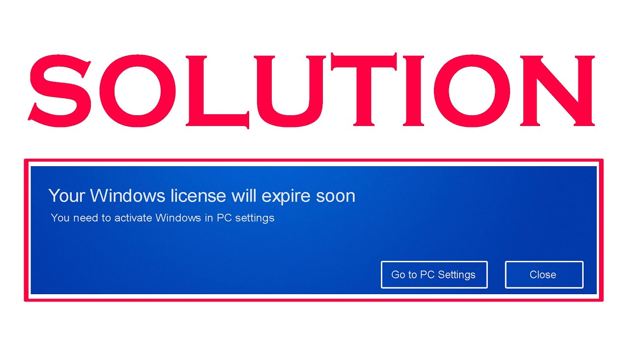 Solved your windows license will expire soon in windows 10 and 8 solved your windows license will expire soon in windows 10 and 8 youtube ccuart Choice Image