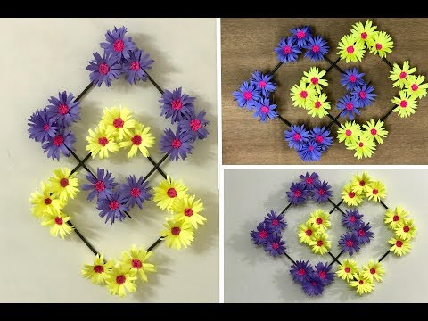 Paper Flower Wall Hanging : DIY Wall Decoration Ideas