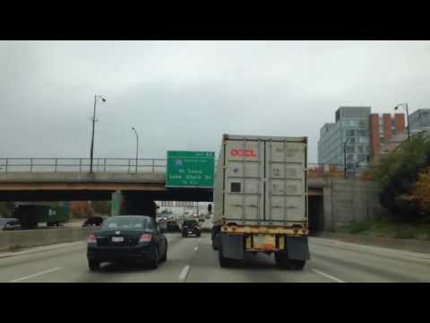 Chicago - Driving from the Western Suburbs to the Old Stock Yards