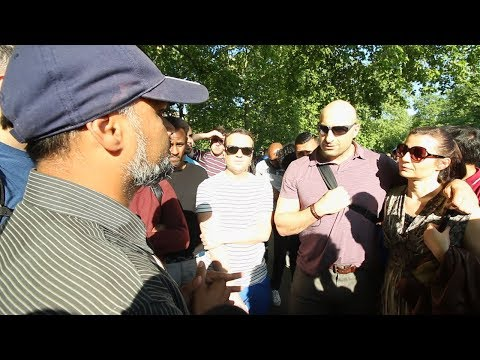 Jesus, Cursed in Bible - Hashim vs Arab Christian | Speakers Corner