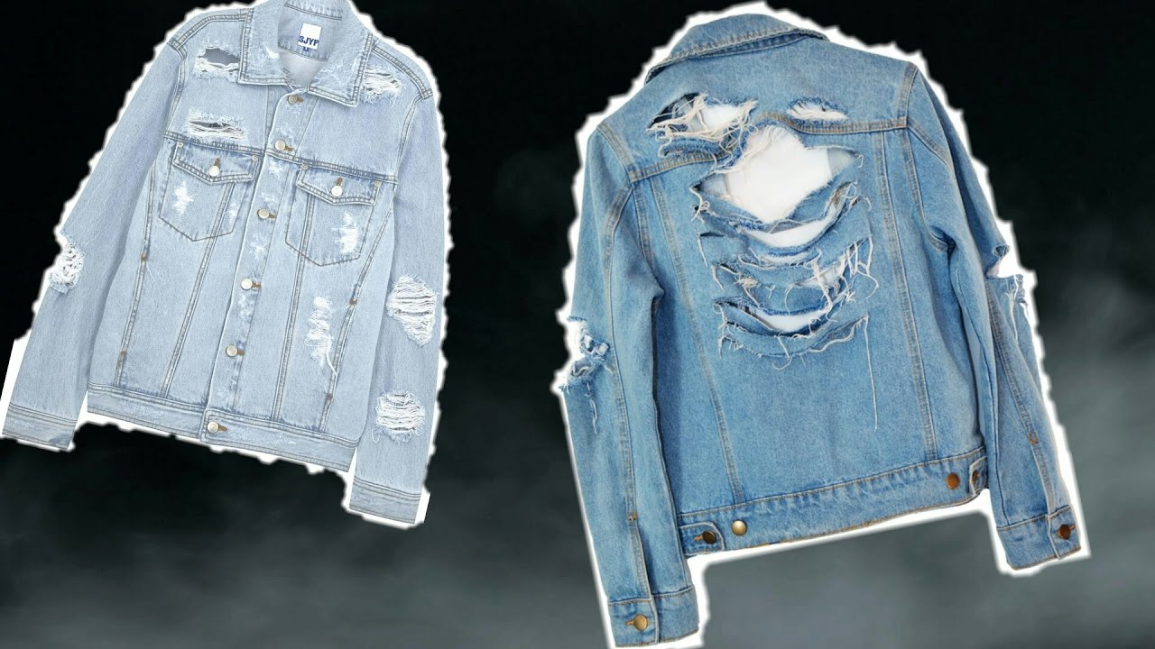 price professional select for original DIY | RIPPED JEAN JACKET!
