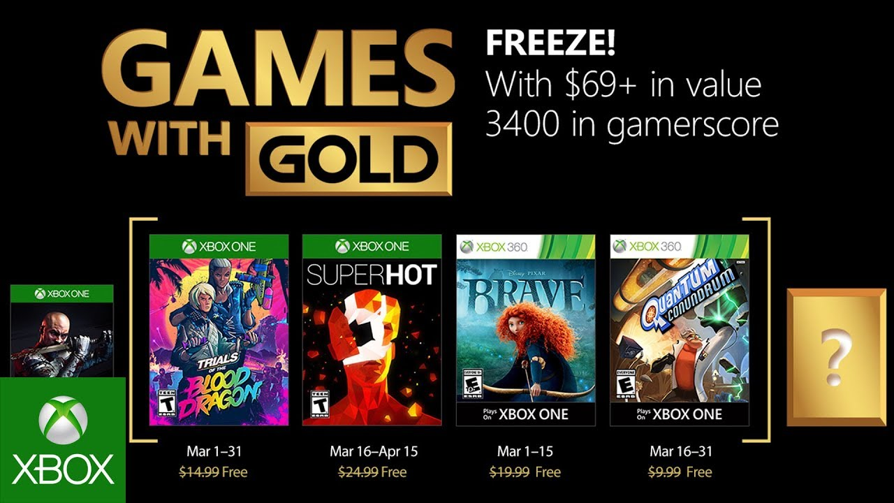 Xbox March 2018 With Gold