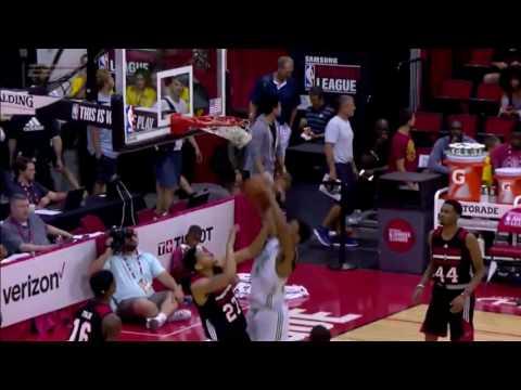 Jordan Mickey Highlights vs. Portland Trail Blazers at Las Vegas SL (12 points, 13 rebounds)