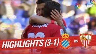 Resumen de RCD Espanyol vs Sevilla FC (3-1)