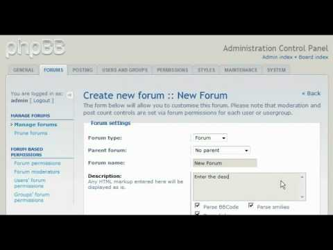 How to create a forum in phpBB