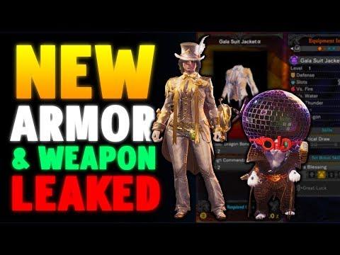 NEW ARMOR & WEAPON LEAKED - MONSTER HUNTER WORLD LEAKS