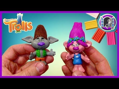 ТРОЛЛИ ИЗ ПЛАСТИЛИНА | ЦВЕТАН И РОЗОЧКА | TROLLS FROM CLAY 2016