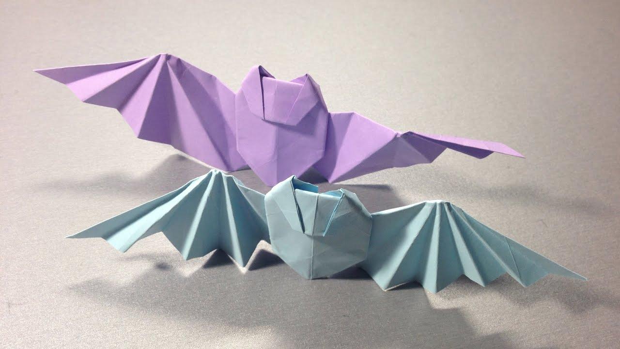 Сделать летучую мышь своими руками из бумаги