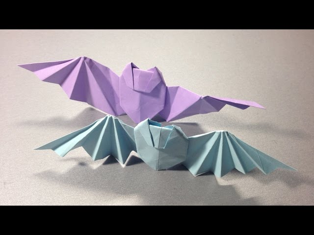 Видео схема оригами летучая