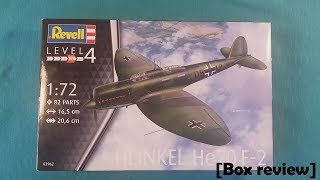 Revell 1/72 He 70 F-2 [Box review]