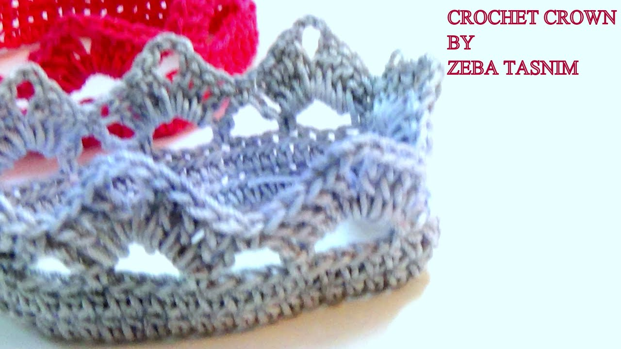 Very Easy Crochet Crown A Youtube