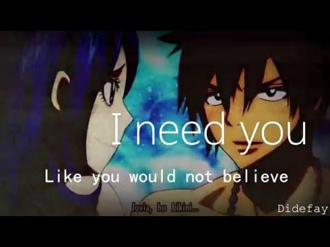 Fairy Tail  Gruvia  -I Need You-  (AMV)