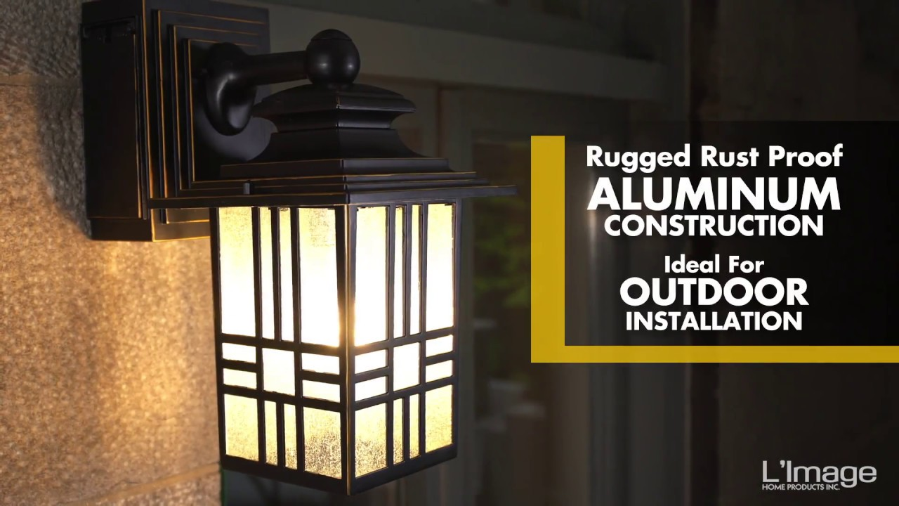 Home Luminaire Mission Outdoor Wall Lantern With Gfci Outlet Youtube Wiring A Light Switch From