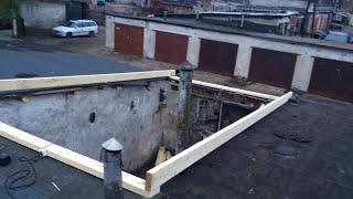 Делаем каркас теплой крыши в гараже. Строим гараж 1. Make a warm roof frame in the garage(, 2015-11-08T15:20:18.000Z)