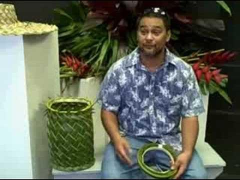 (1of3) Hawaiian Weaving with Sam Kama,Jr. Hilo Hawaii