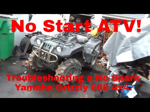 [SCHEMATICS_4FD]  No Start Yamaha Grizzly 600, Troubleshooting a no spark ATV! - YouTube   1998 Yamaha Grizzly 600 Ultramatic Wiring Diagram      YouTube