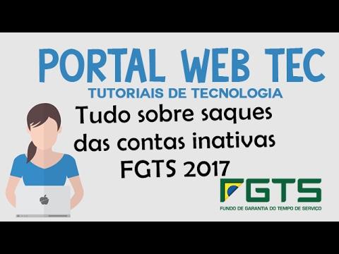 Portal Web Tec: Como consultar as contas inativas do FGTS 2017
