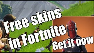 Fortnite free skins (no Clickbait) get it now....