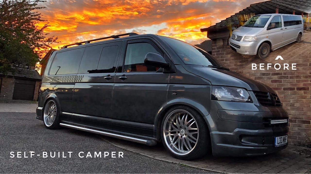 vw transporter t5 diy self built camper