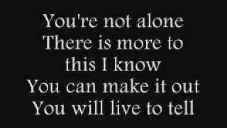 Saosin You Re Not Alone Lyrics