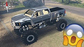 Spin Tires | Hercules Mud Truck! Let's go Mudding!