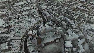 Drone Shot Oude Kerk Maasland