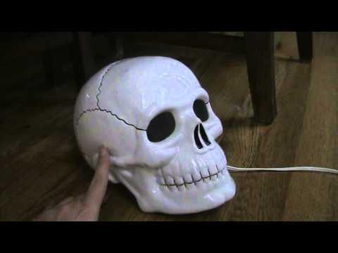 halloween decoration flashing ceramic skull - Ceramic Halloween Decorations