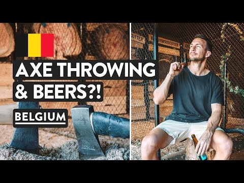Belgian Beers & Axe Throwing In Brussels | Travel Vlog Belgium