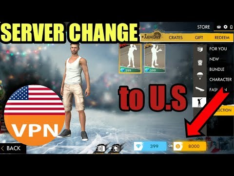 HOW TO CHANGE SERVER IN FREE FIRE     U.S SERVER