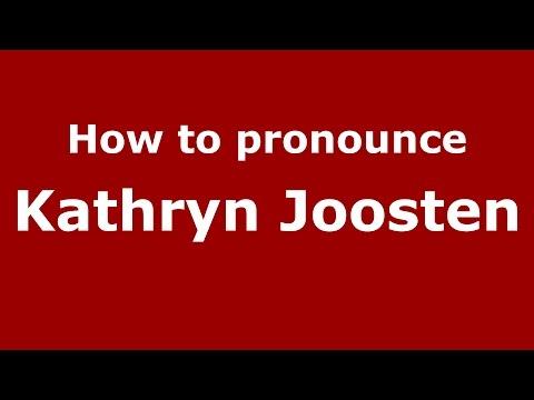 How to pronounce Kathryn Joosten (American English/US)  - PronounceNames.com