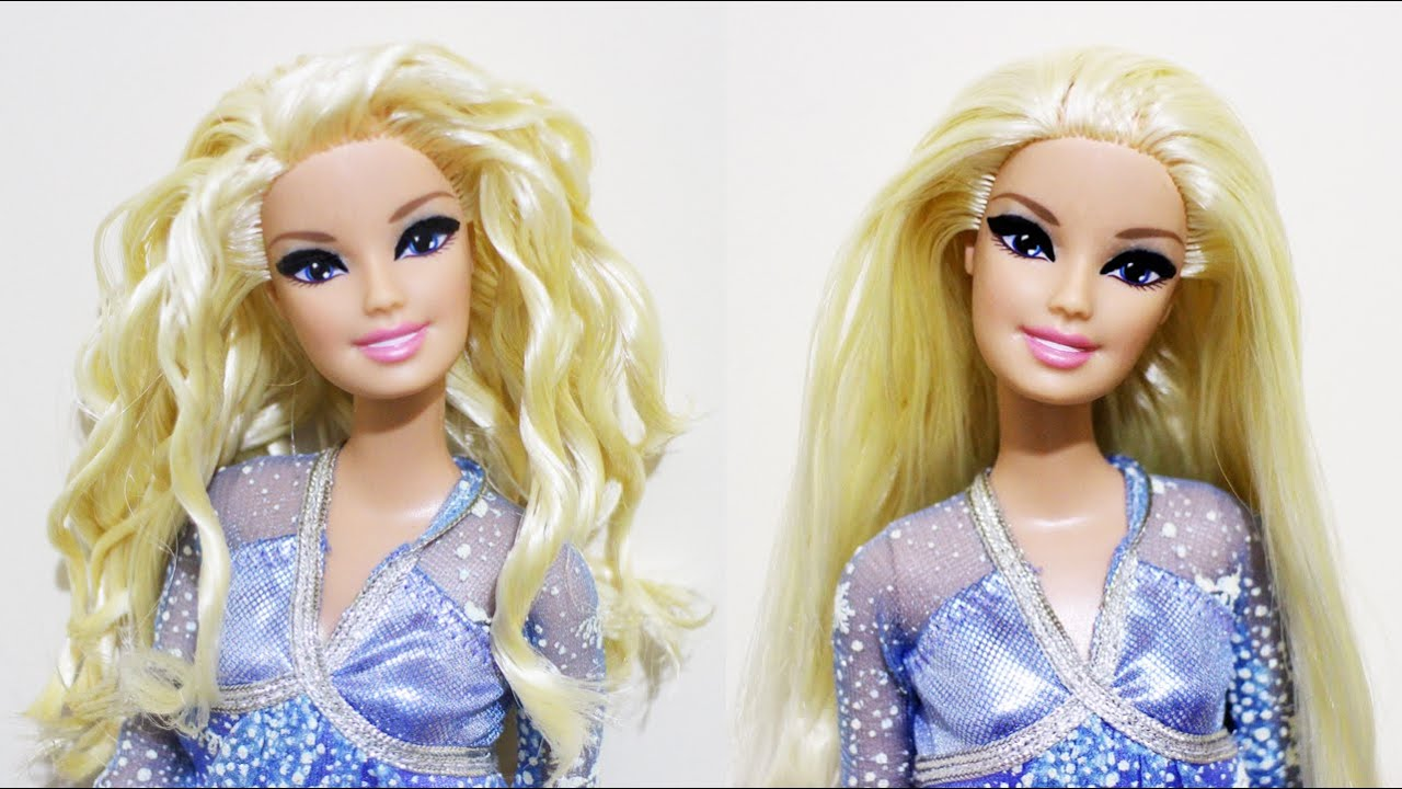 How to Curl Barbies Hair Using the Freezer