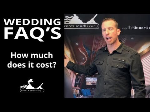 Wedding FAQs -  How much does a Wedding Limo cost? #BWLFAQ