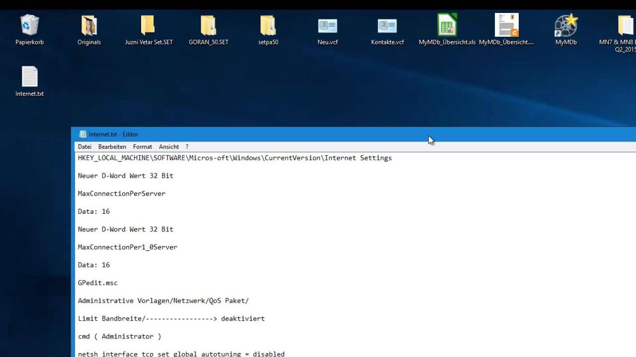 Windows 10 Internet Geschwindigkeit beschleunigen - YouTube