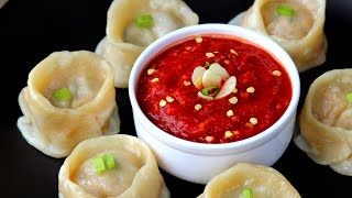 Chicken momos - how to prepare cheesy chicken momos at home easily