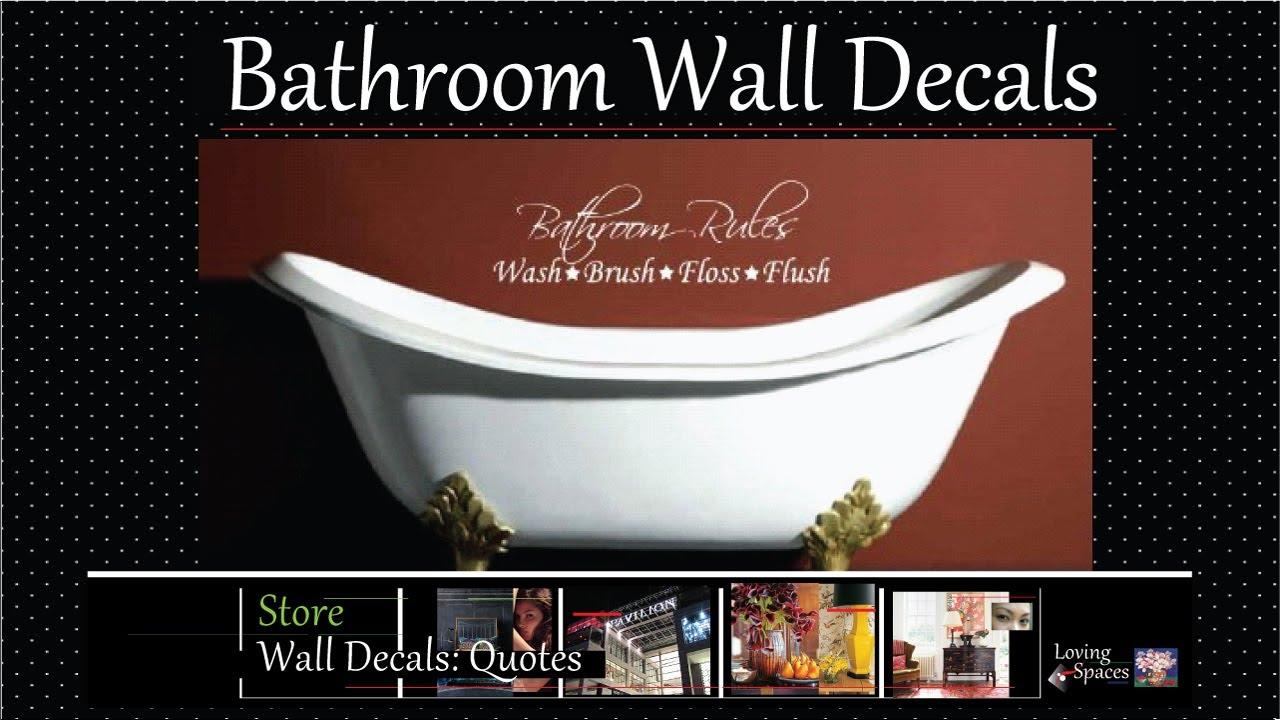 Bathroom wall decals youtube amipublicfo Choice Image