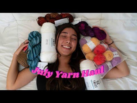 july yarn haul