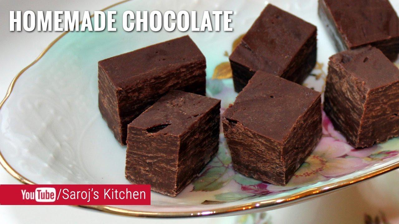 🍫 कोका पाउडर से चॉकलेट बनाने की विधि | Easy homemade dark chocolate recipe  with cocoa