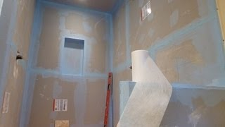 "How To Waterproof And Tile Walk-in Tile Shower Diy- Step By Step Instructions - Part ""1"" Of 2"